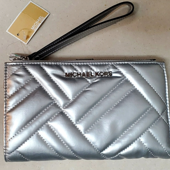 Michael Kors Large Double Zip Wristlet/Wallet